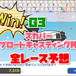 『競艇予想(11/18)』G3戸田スカパー・ブロードキャスティング杯・最終日の全レース予想